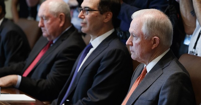 The Latest: Democrats criticize Sessions' plan on addiction