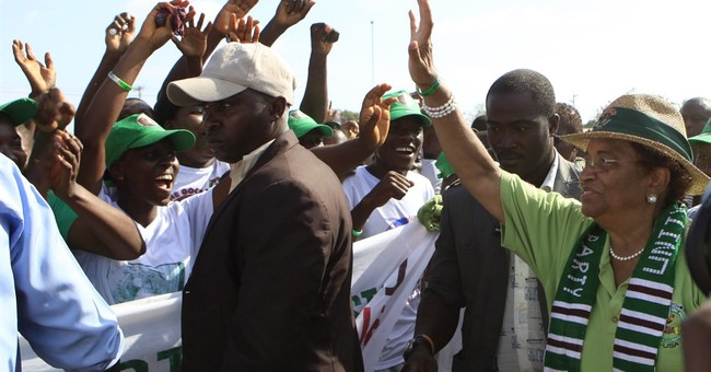 Liberia's president calls for peace as campaigns begin