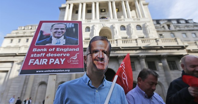 Bank of England workers on strike for first time in 50 years