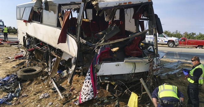 Driver charged in California bus wreck that killed 4 people