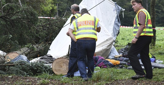 Storm in Germany kills 1 boy, hurts 4 as tree falls on tent