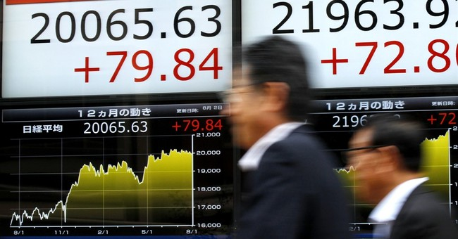 Global stocks mostly lower ahead of US jobs data