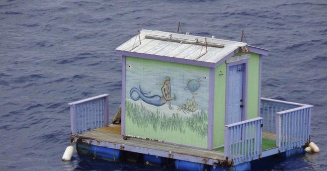 Tiny mermaid-painted shed apparently drifted 200 miles
