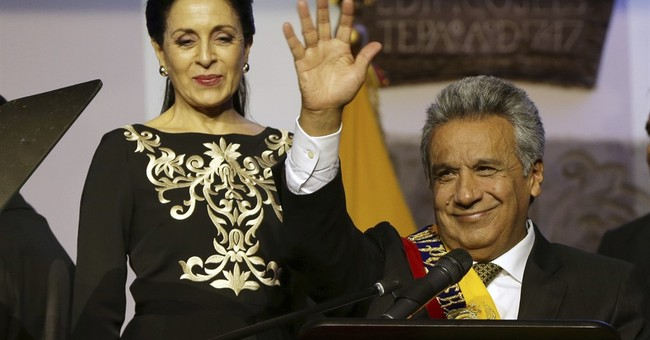 Ecuador president strips VP of powers over bribe allegations