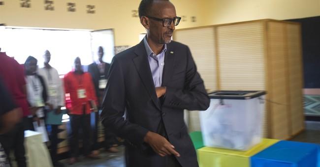 The Latest: US 'disturbed by irregularities' in Rwanda vote