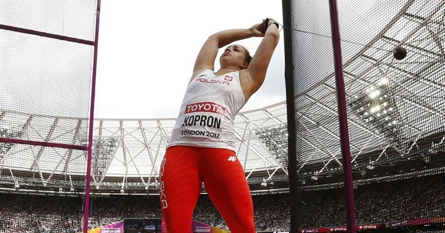 The Latest: Schafer takes lead in heptathlon at worlds