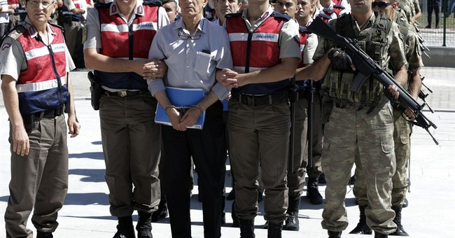 Turkey's president declares dress code for suspects on trial