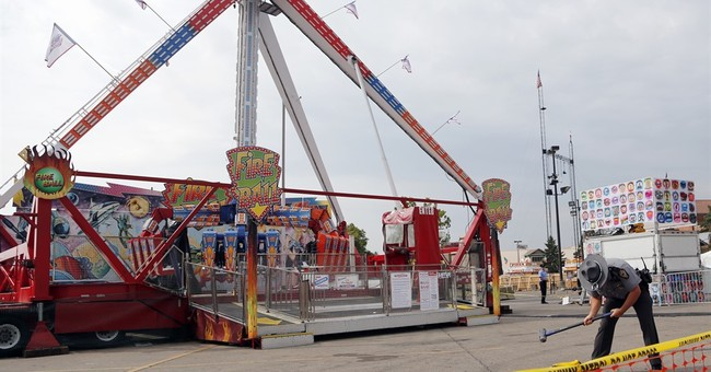 Water trapped inside Ohio fair ride may have led to accident