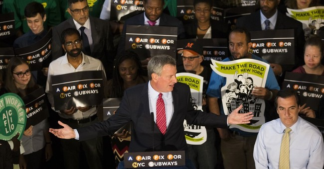 NYC mayor promotes millionaires' tax to fix transit woes