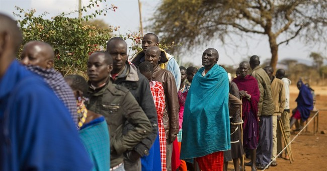 AP PHOTOS: Kenya's colorful Maasai vote in tight elections