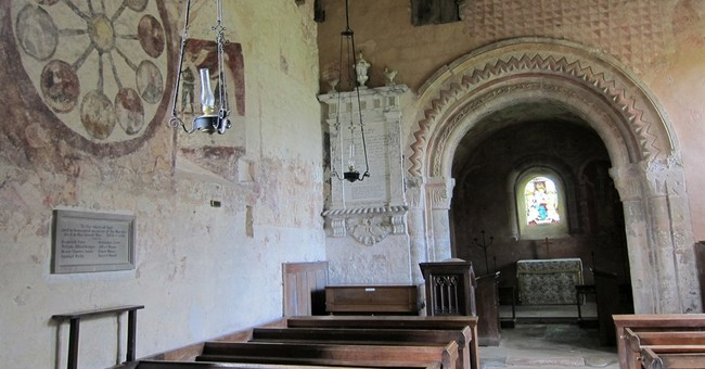 Ancient tiny church in western England a keeper of history