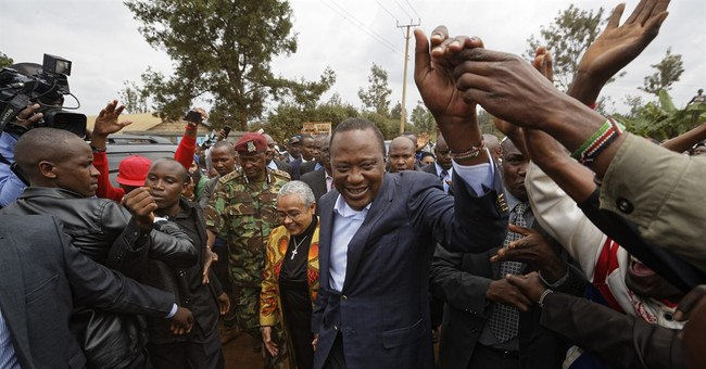 The Latest: Kenya president leads with 2/3 of votes counted
