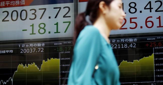 Stocks mostly lower following downbeat China trade data