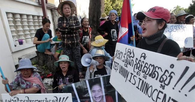 Cambodian court upholds prison term for land rights activist