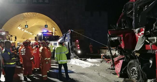 Bus crash in China's northwest kills at least 36, hurts 13