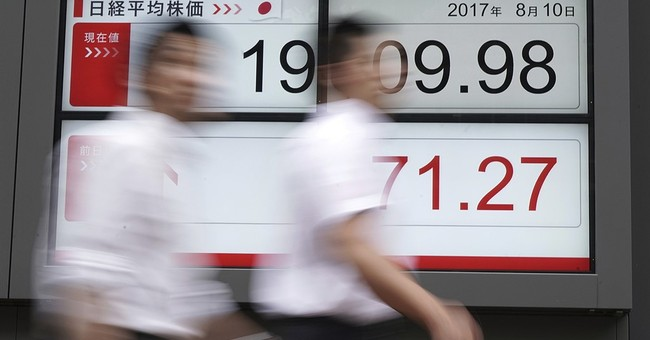 Global stocks fall on rising unease over North Korea