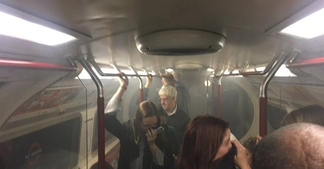 London subway fire: 4 treated for smoke inhalation