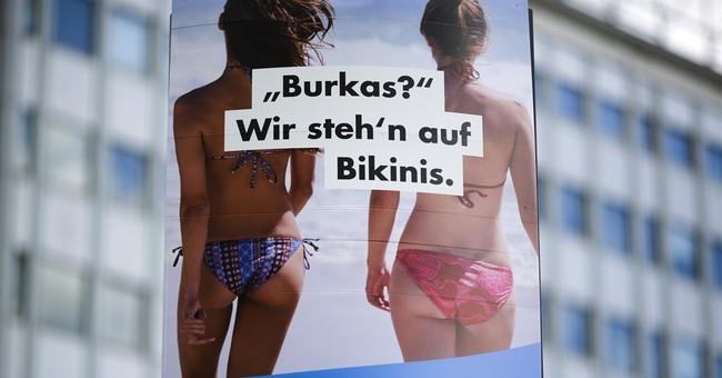 German nationalists pull anti-Islam pig poster