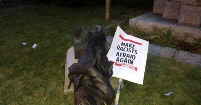 Protesters topple Confederate statue in North Carolina