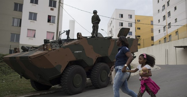 Brazil police, troops carry out security operation near Rio