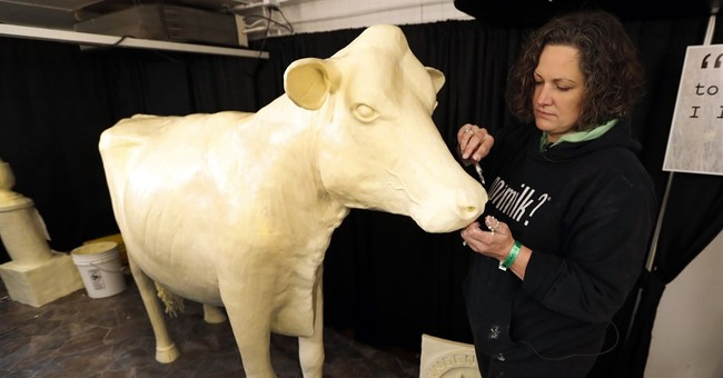 The Iowa State Fair is opening. Time to visit the Butter Cow