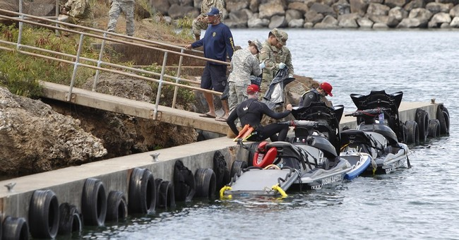 Underwater devices look for Army helicopter crew off Hawaii