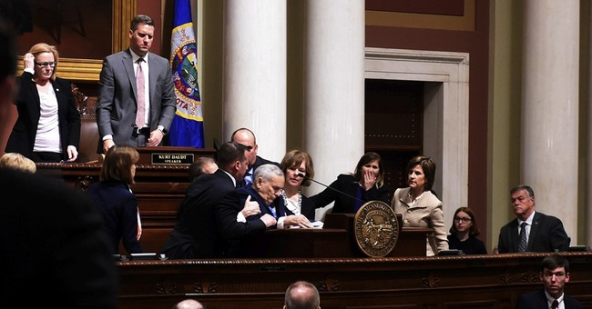 The Latest: Son tweets Minnesota Gov. Dayton 'doing great'