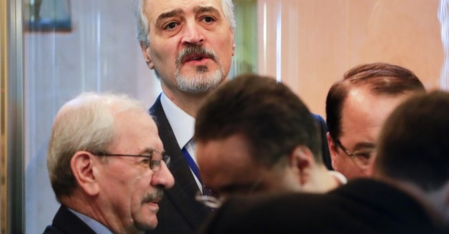 Icy, brief face-to-face meeting of Syria government, rebels