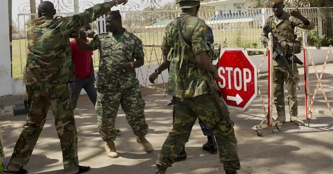 Gambia's new president, still in Senegal, names female VP
