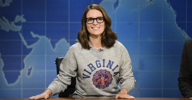 Tina Fey returns to 'Weekend Update' to talk Charlottesville
