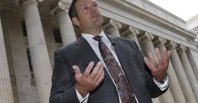 Kansas trial to examine bias claim against Kobach's office