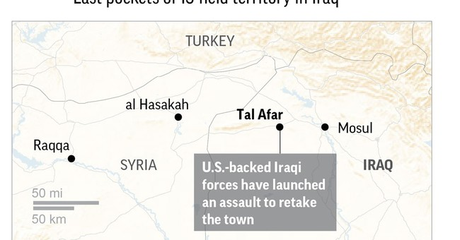 Iraqi forces close in on IS-held town west of Mosul