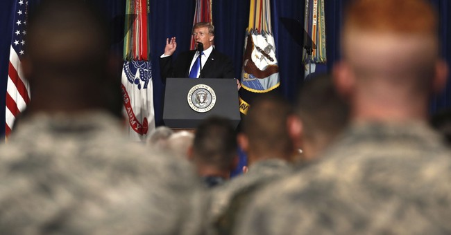 The Latest: Afghan government applauds Trump speech