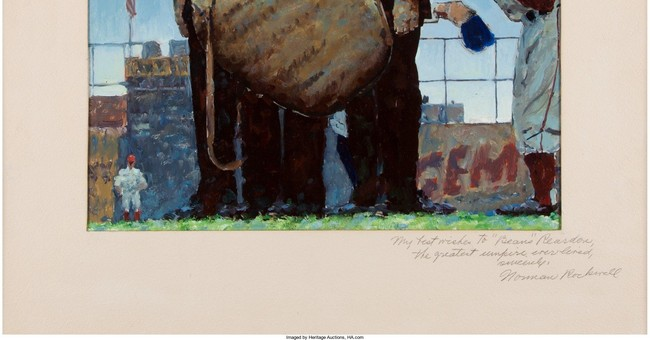 Norman Rockwell baseball painting sells for $1.6M at auction
