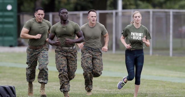 Marines fitness instructor puts Kate Upton through her paces