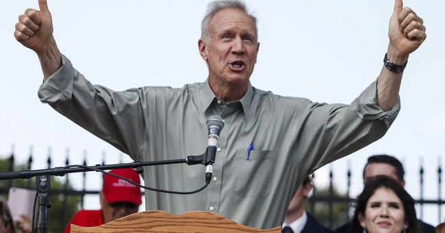 Rauner says no comment on political cartoon as 'white male'