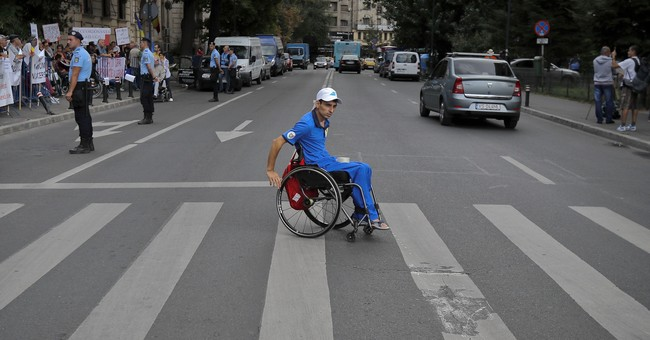 Romania: Protest slams decree on jobs for disabled people