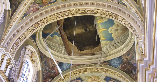 Ceiling collapses in one of Malta's oldest churches