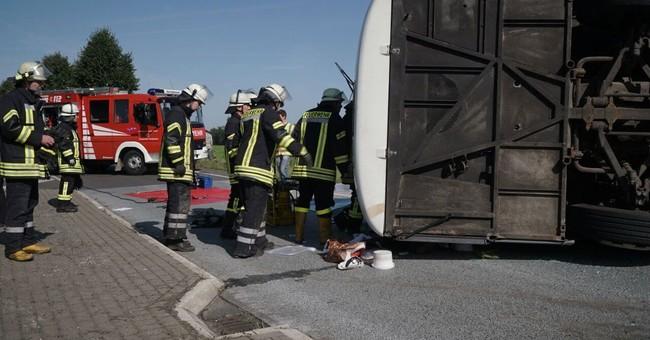 44 mostly Romanian fruit pickers injured in German bus crash