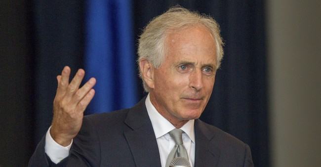 Corker's careful balancing act on Trump knocked off kilter