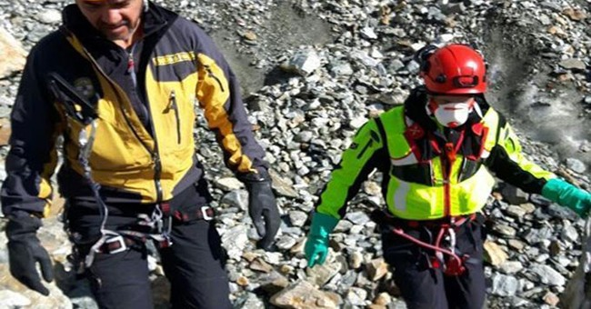 Melting Mont Blanc glacier yields remains of dead hikers