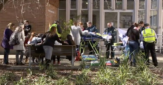 Student attacks 4 with bat in Australian university class