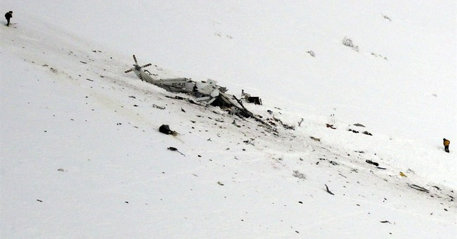 All 6 dead in helicopter crash in central Italy