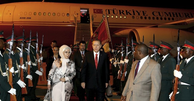 Turkish president lands in Mozambique for talks
