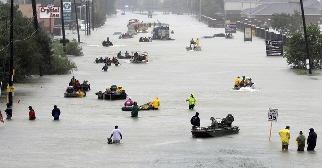 My family rode out Harvey until water poured through walls