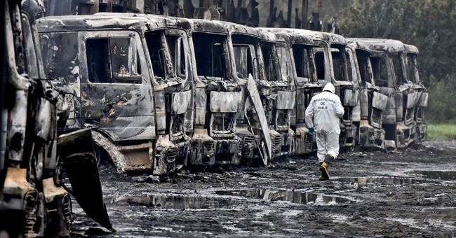 Chile: 29 trucks burned in attack, no injuries reported