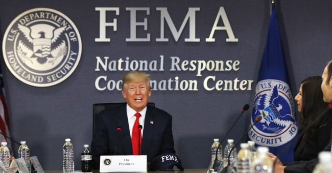 Trump eagerly confronts tricky politics of natural disasters