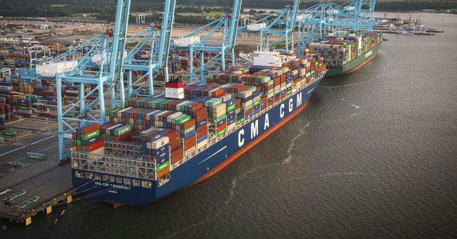 Another massive container ship docks in US, breaks record