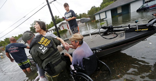 Harvey reporters cast aside role as observers to help