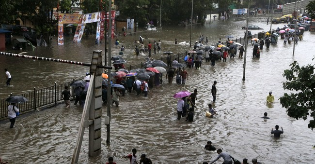 Torrential rains bring India's financial hub to a halt